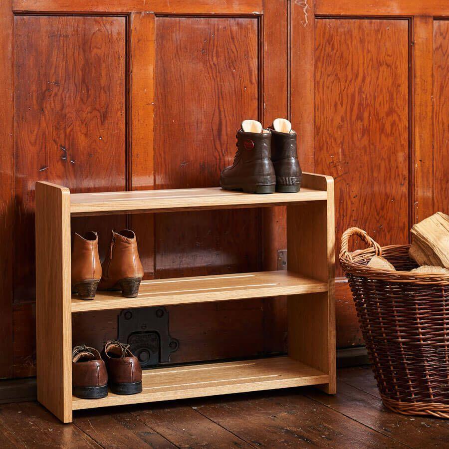 Oak Shoe Rack handmade in solid Oak in various sizes | Boot & Saw#boot #handmade #oak #rack #shoe #sizes #solid