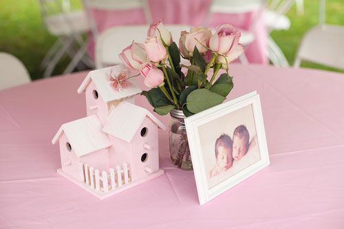 Beautiful Pink Bird Themed First Birthday Party birdhouse