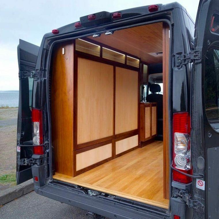 Fourgon Amenage Campervan Lit Escamotable Campervan Bed Van Bed Campervan Conversions