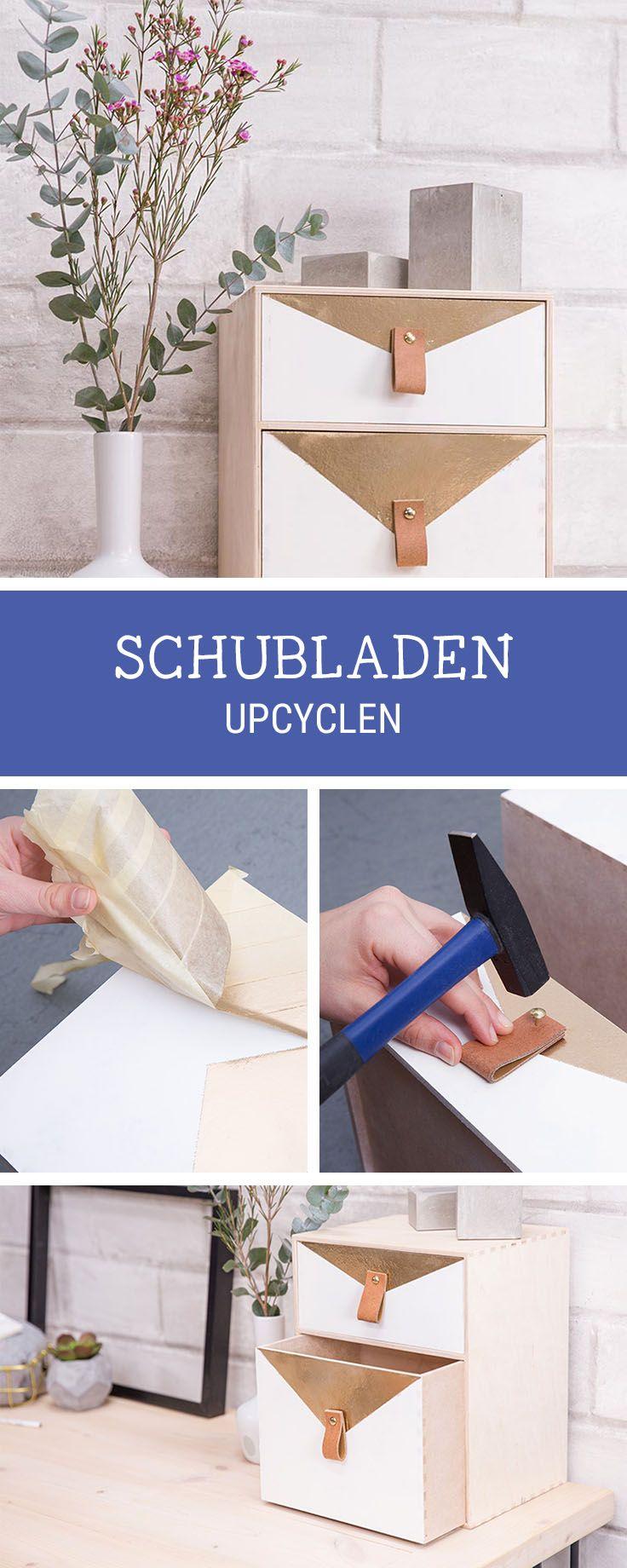 Einfaches wohnmöbel design einfaches möbeldiy schublade in ein schreibtischutensilo