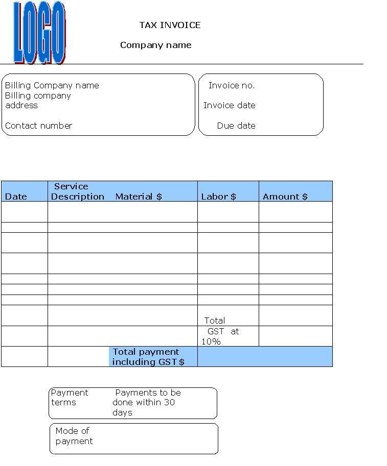 Sample Invoice Gst  Invoice    Template And Free
