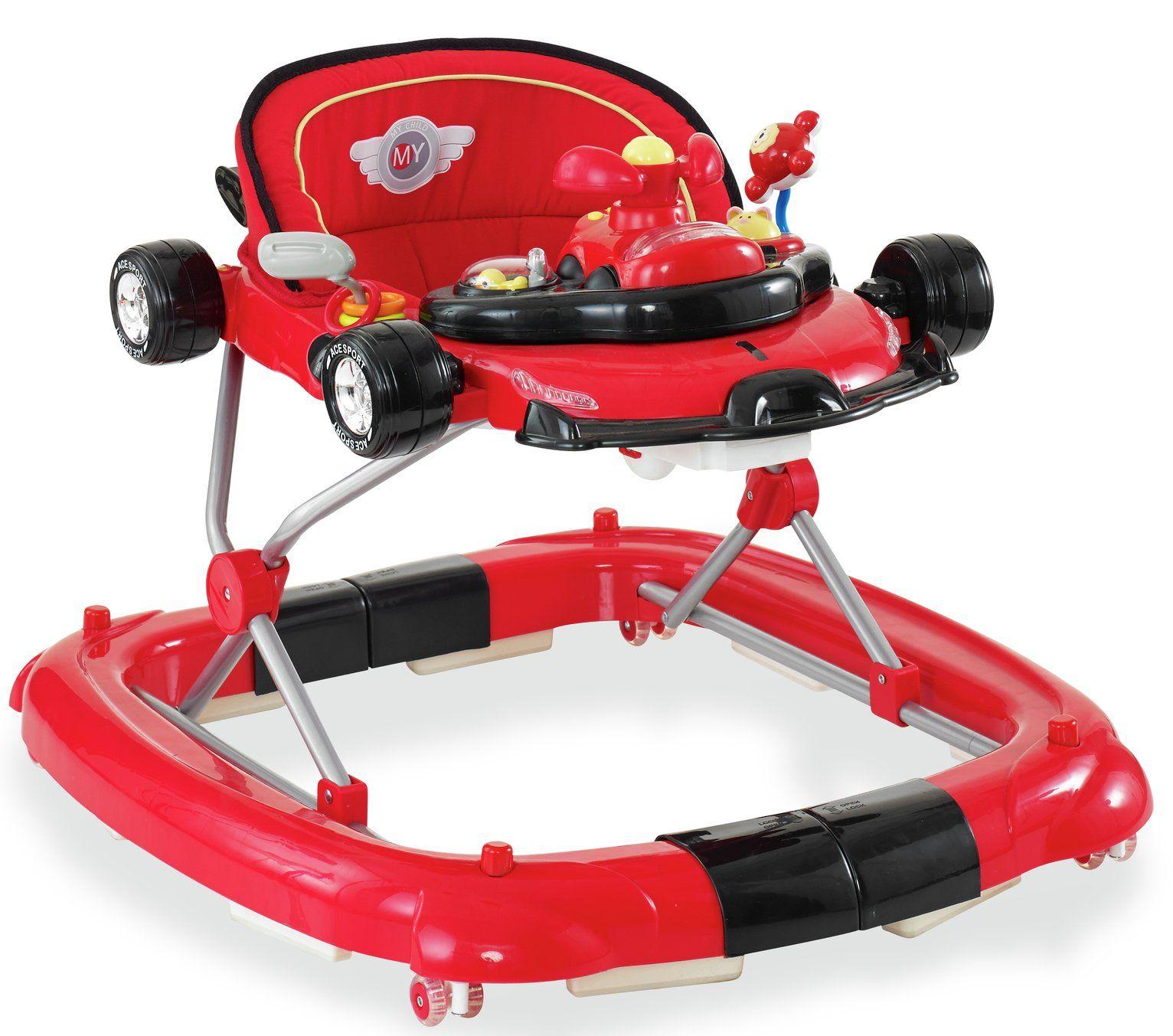 Mychild F1 2 in1 Car Walker Racing Red