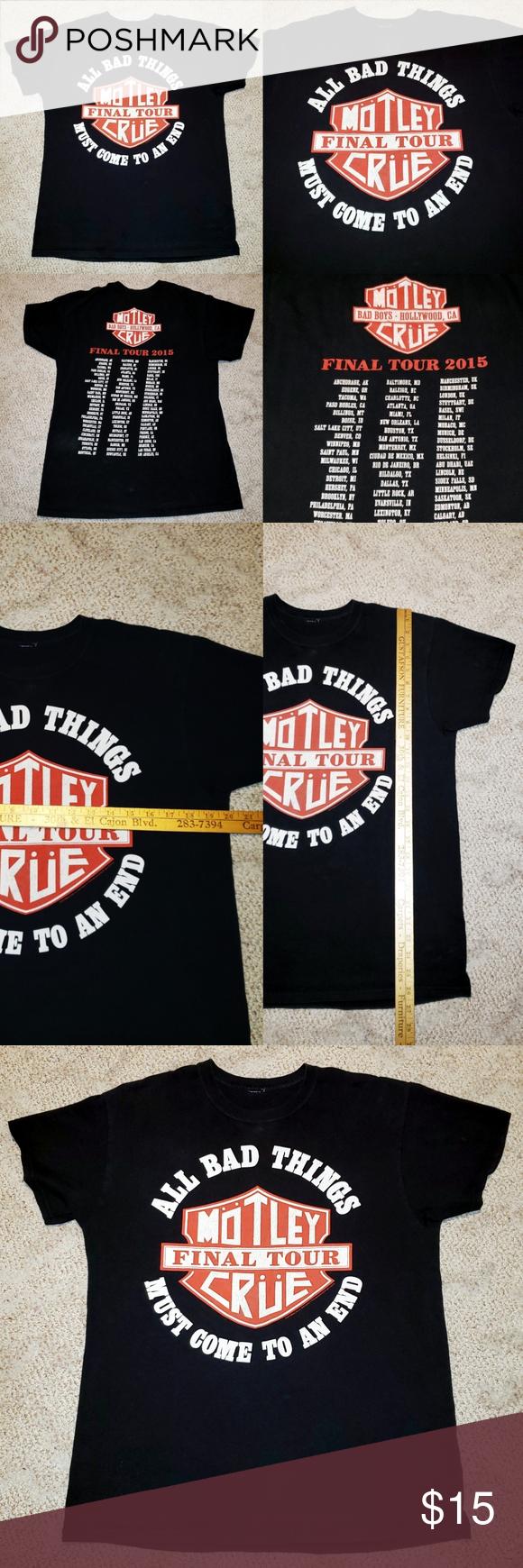 Sold Motley Crue 2015 Concert Tour Rock Band Tee Rock Band Tees Motley Crue Band Tees