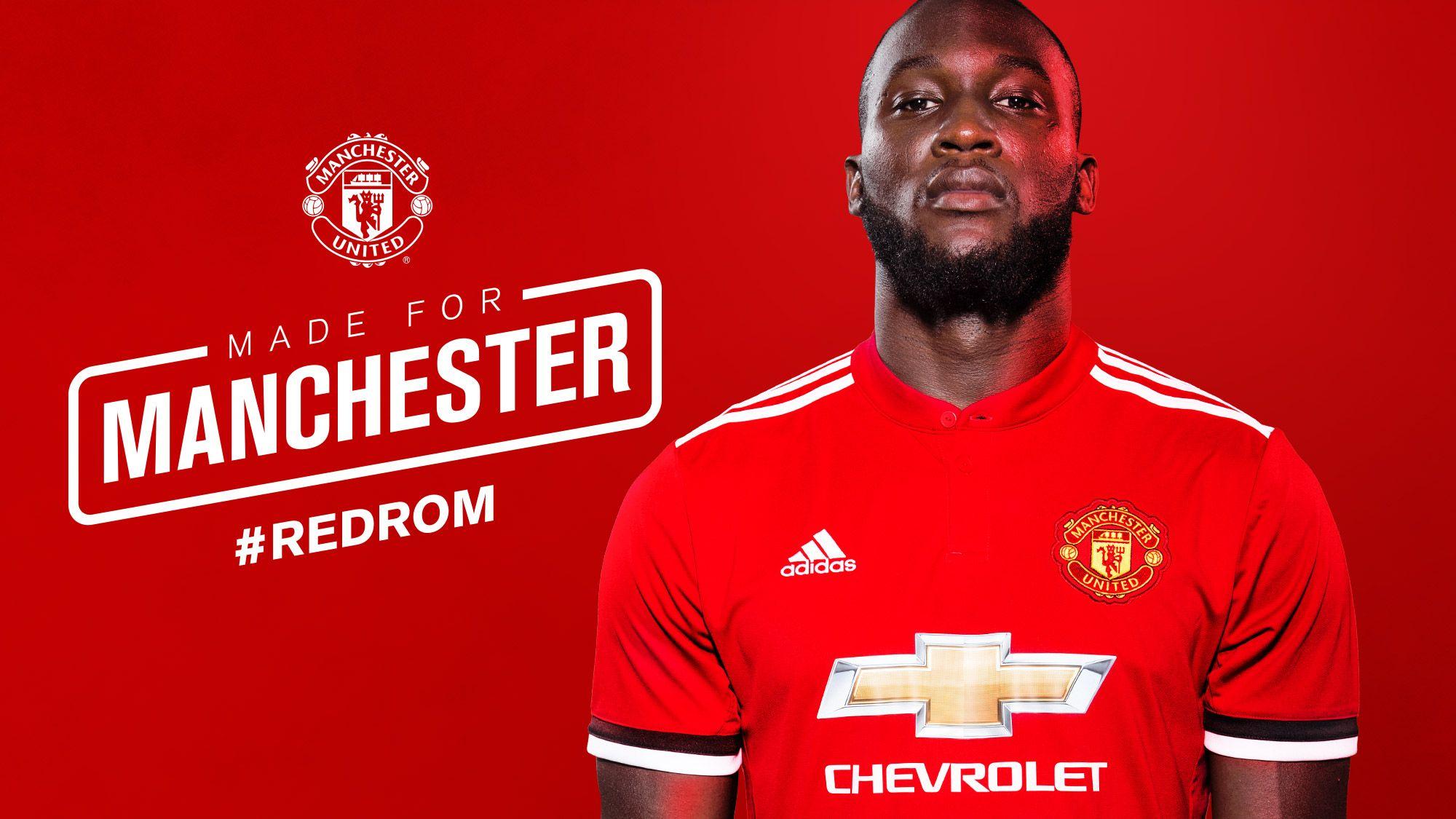 Manchester United Confirm Lukaku Signing Redrom Romelu Lukaku Manchester United Manchester United Football Club