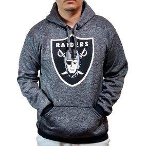 Blusa Canguru Oakland Raiders Casaco Moletom Mesclado Nfl  1c07d8a5e005b