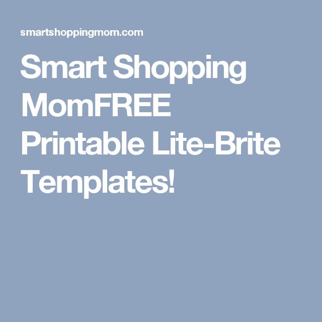 Smart Shopping Momfree Printable Lite Brite Templates Lite Brite