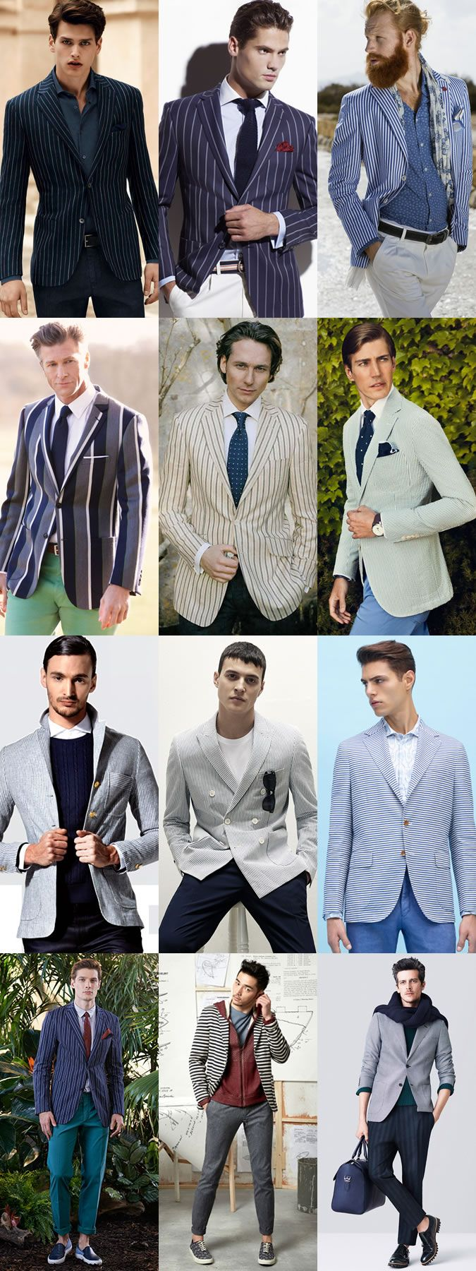 Men's Striped Separates - Trousers and Blazers - Spring/Summer Outfit Inspiration Lookbook
