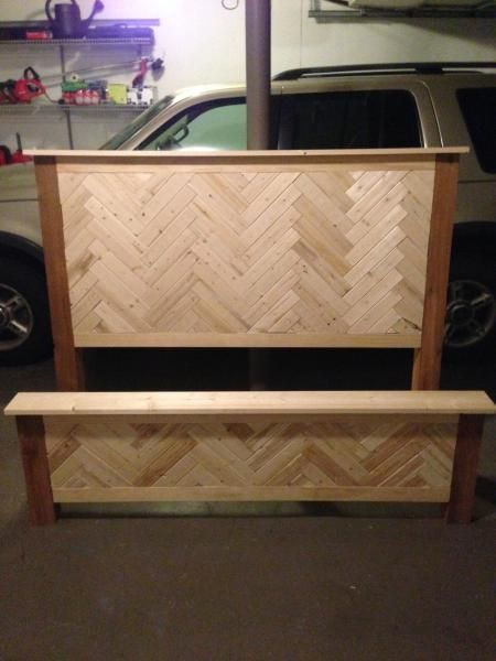 Diy Herringbone Cassidy Queen Bed Do It Yourself Home Projects