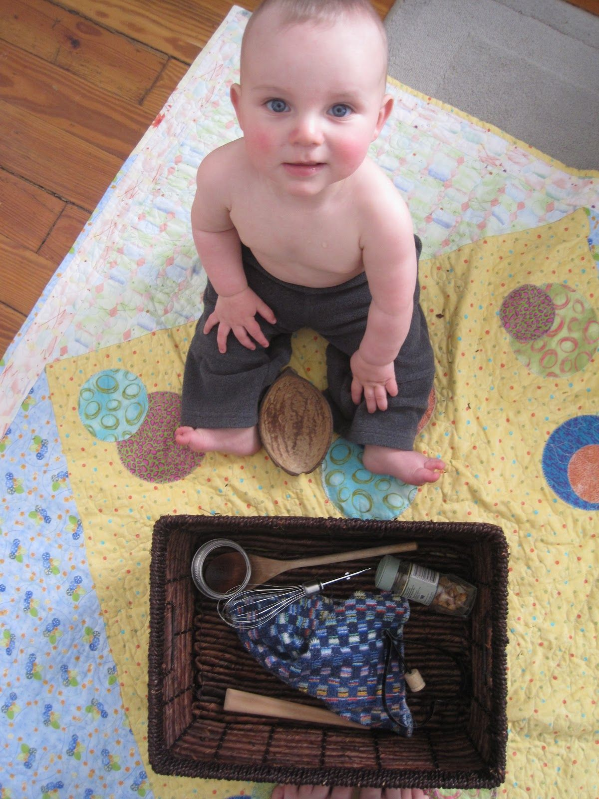 DIY Montessori-style Treasure Basket (for ages 6-18 months) from Making Home Simple