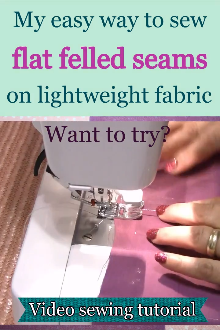 Photo of How to sew a flat felled seam on lightweight fabric without a special presser foot