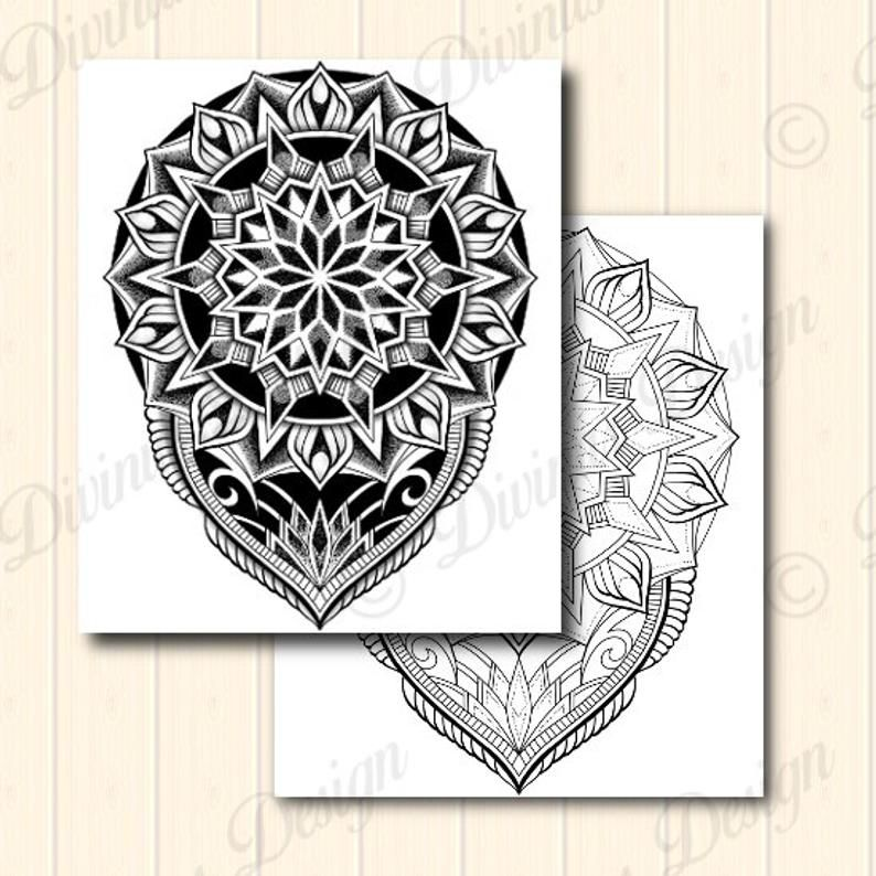 Mannen Schouder Geometrische Tribal Mandala Tattoo Design En Etsy Geometric Mandala Tattoo Mandala Tattoo Design Mandala Tattoo Men