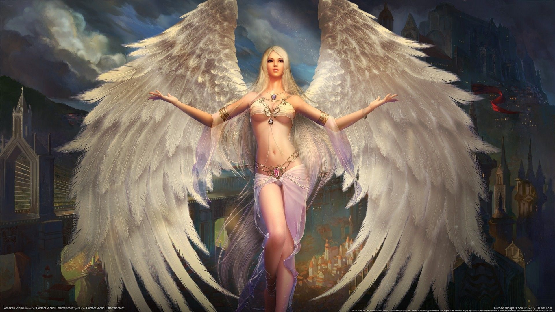 Erotic angel wallpaper