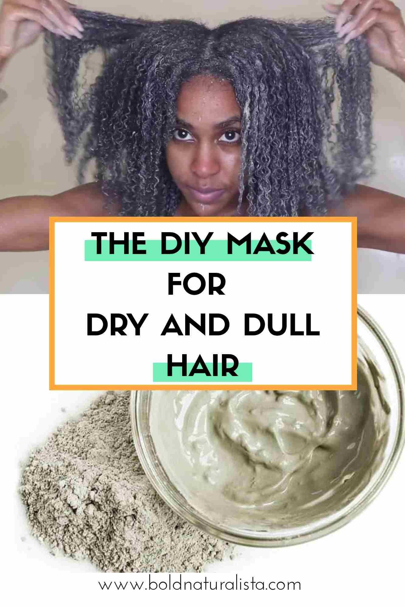 Diy Mask For Dry Natural Hair Moisturize Dry Hair Treating Dry Hair Natural Hair Styles