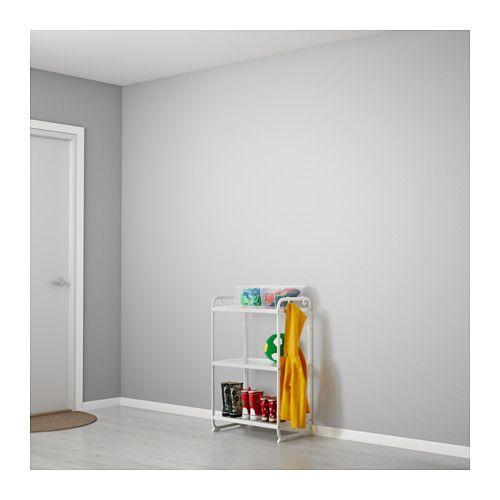 MULIG Regal, weiß Gebeizt, Handtücher und Haus - regale f r badezimmer