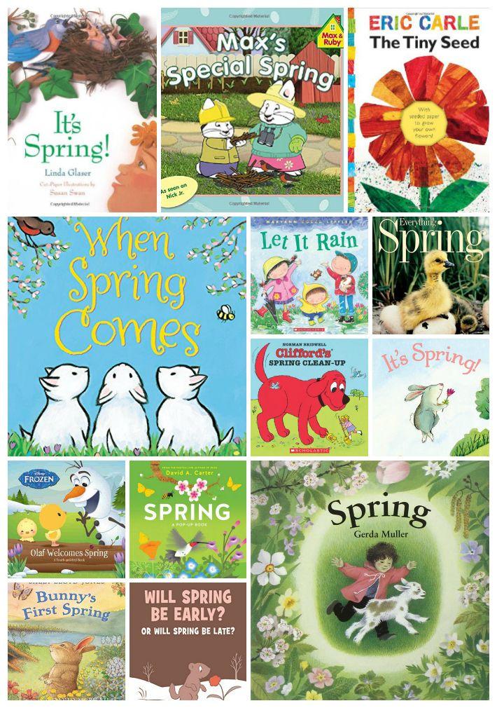 25 Amazing Spring Books For Kids Spring Preschool Activities