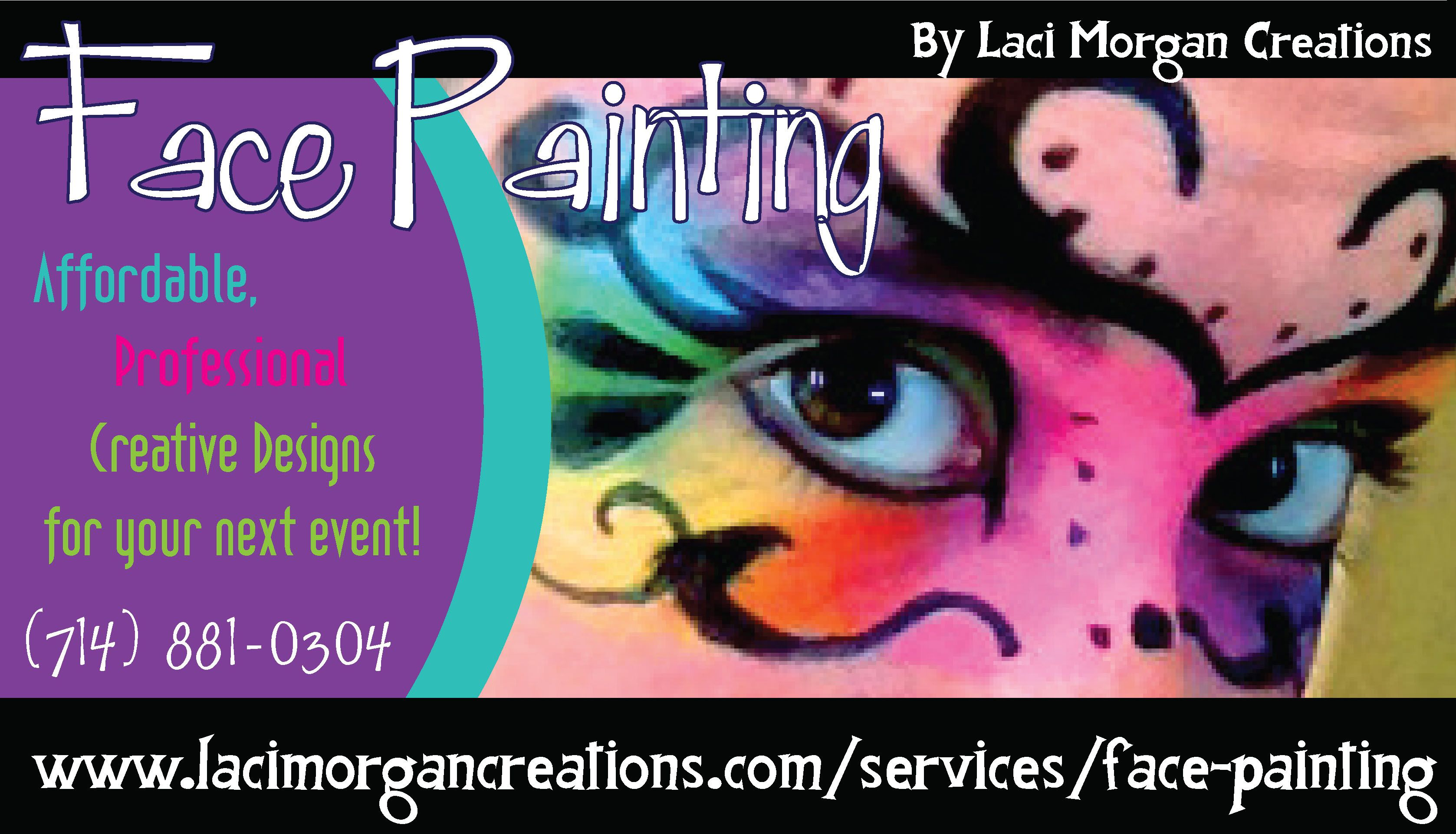 Face Painting Business Cards