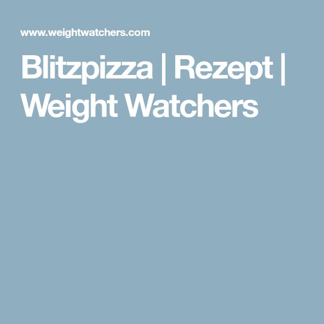 Weight Watchers Pizza Punkte