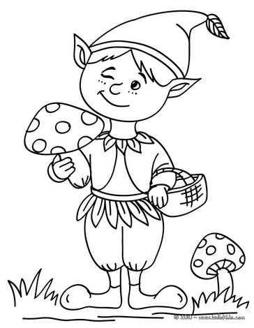 Boy Elf Coloring Page