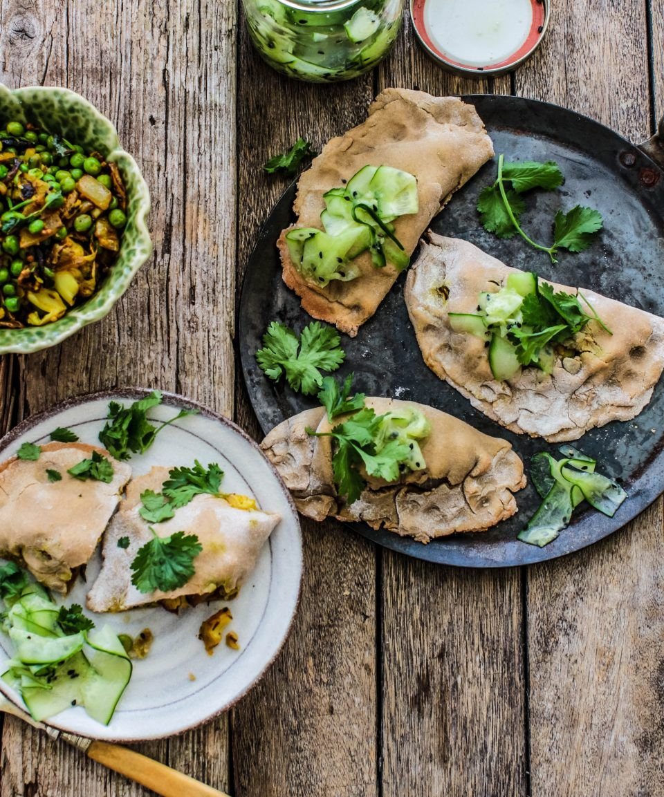 Baked Empanadas With Spiced Cauliflower Peas And Middle
