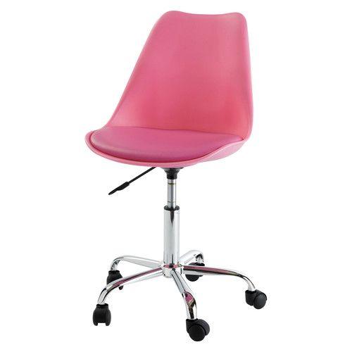 Silla de escritorio con ruedas rosa | Escritorio rosado, Escritorios ...