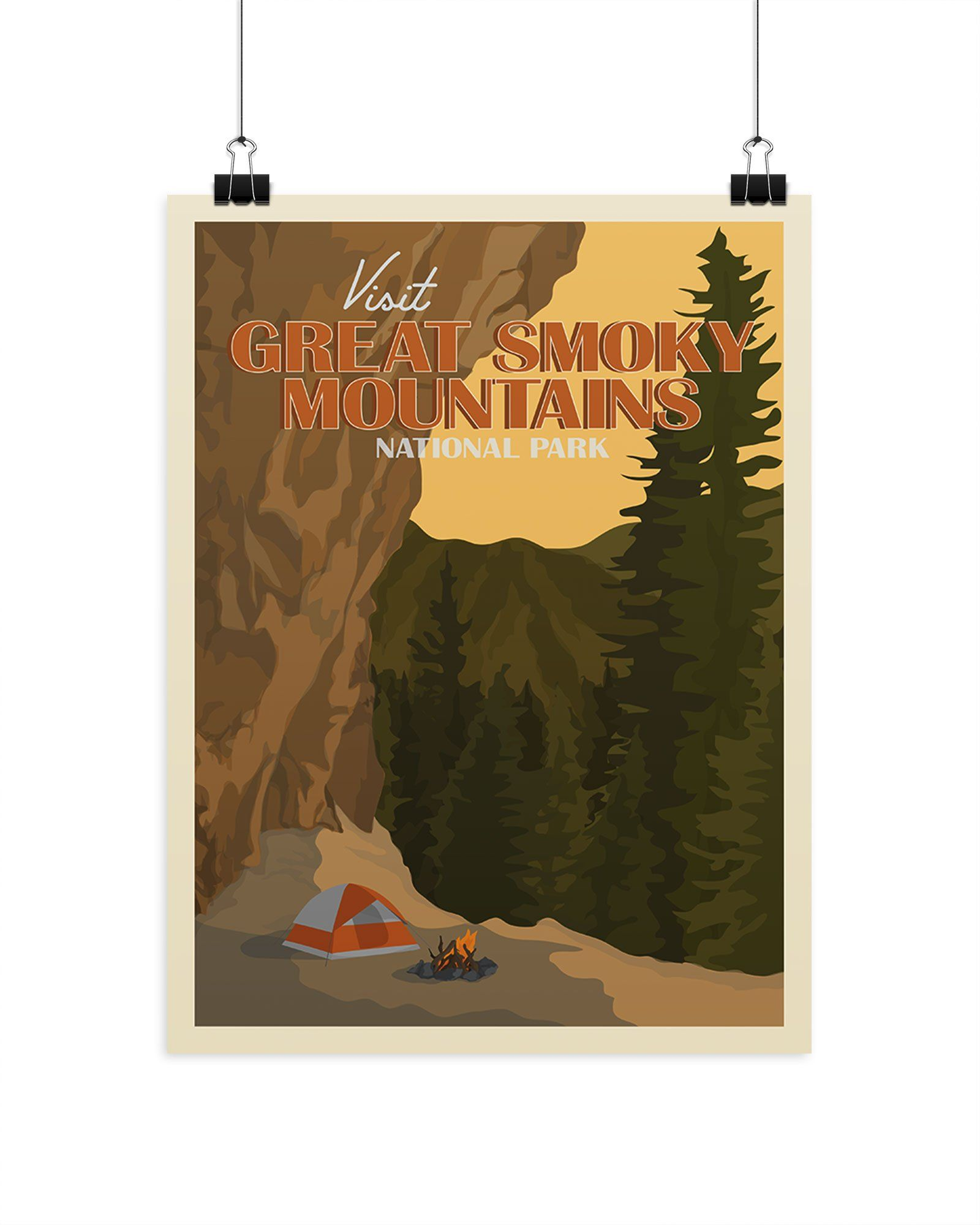Visit Great Smoky Mountains National Park Poster Parks