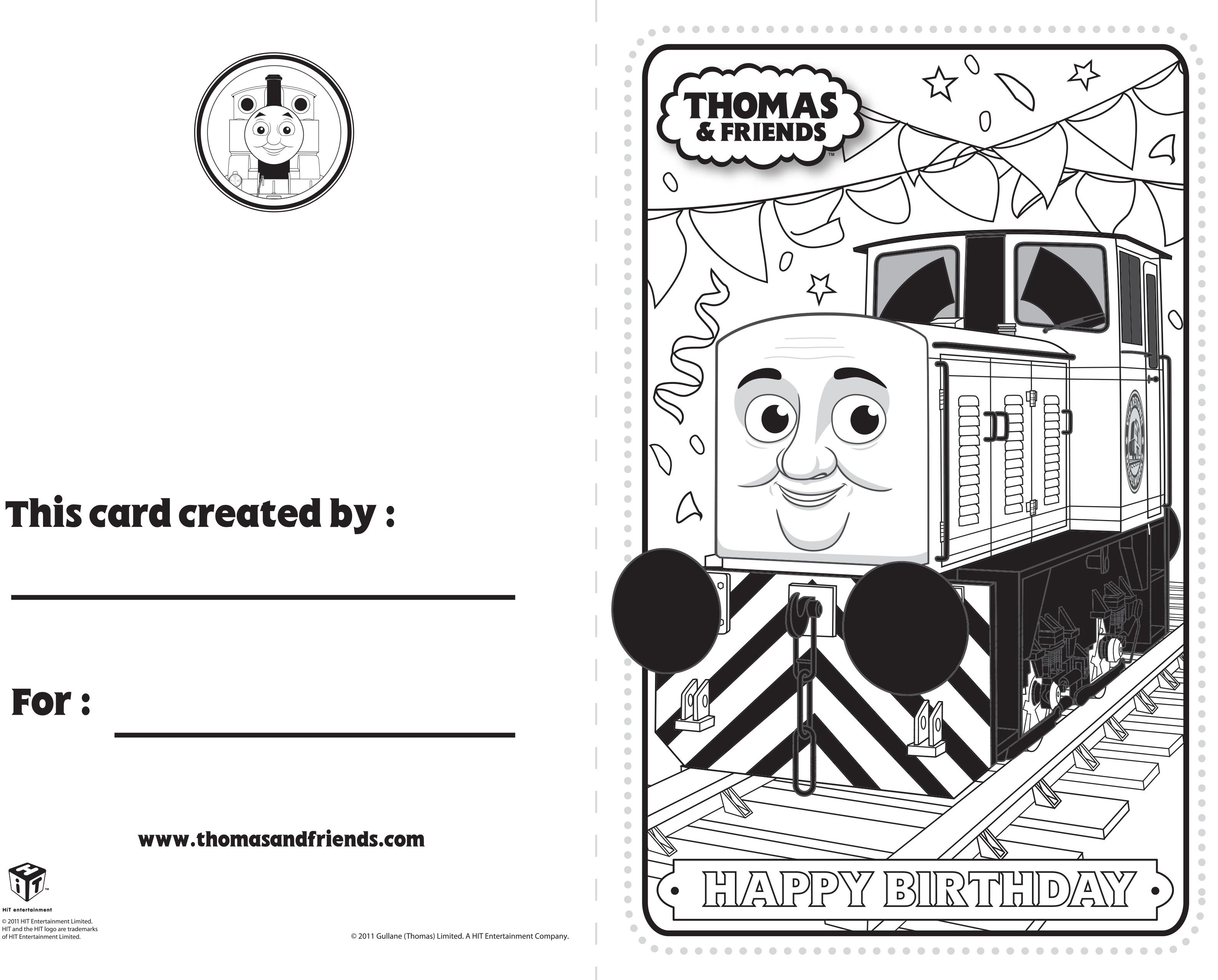 Thomas And Friends Birthday Card Dart Thomasandfriends