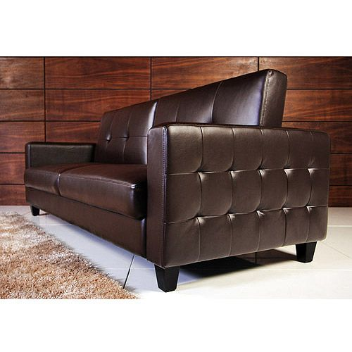 Guest Room Rome Faux Leather Convertible Sofa Bed