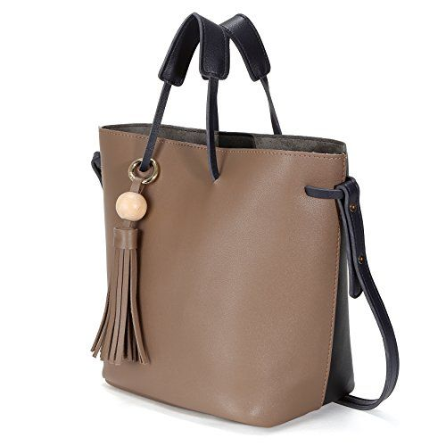 90d0a23775e8 Callibag Hobo Style Drawstring Bucket Women Tote Shoulder Bag Handbag Purse  PU Leather with Inner Pouch