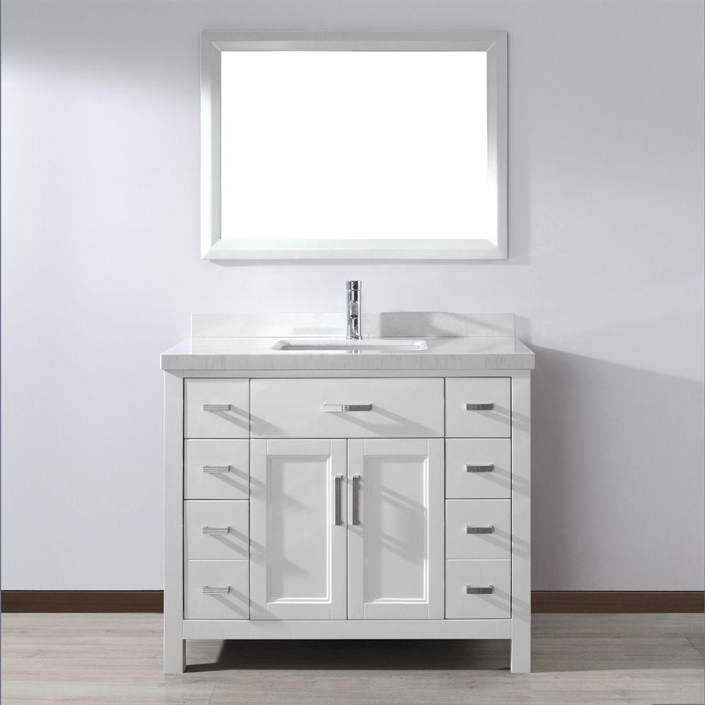 Shop Spa Bathe KZ42 Kenzie 42-in Single Sink Vanity with ...