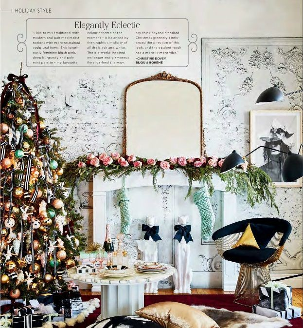 11 Christmas Home Decorating Styles (70 Pics | Eclectic style ...