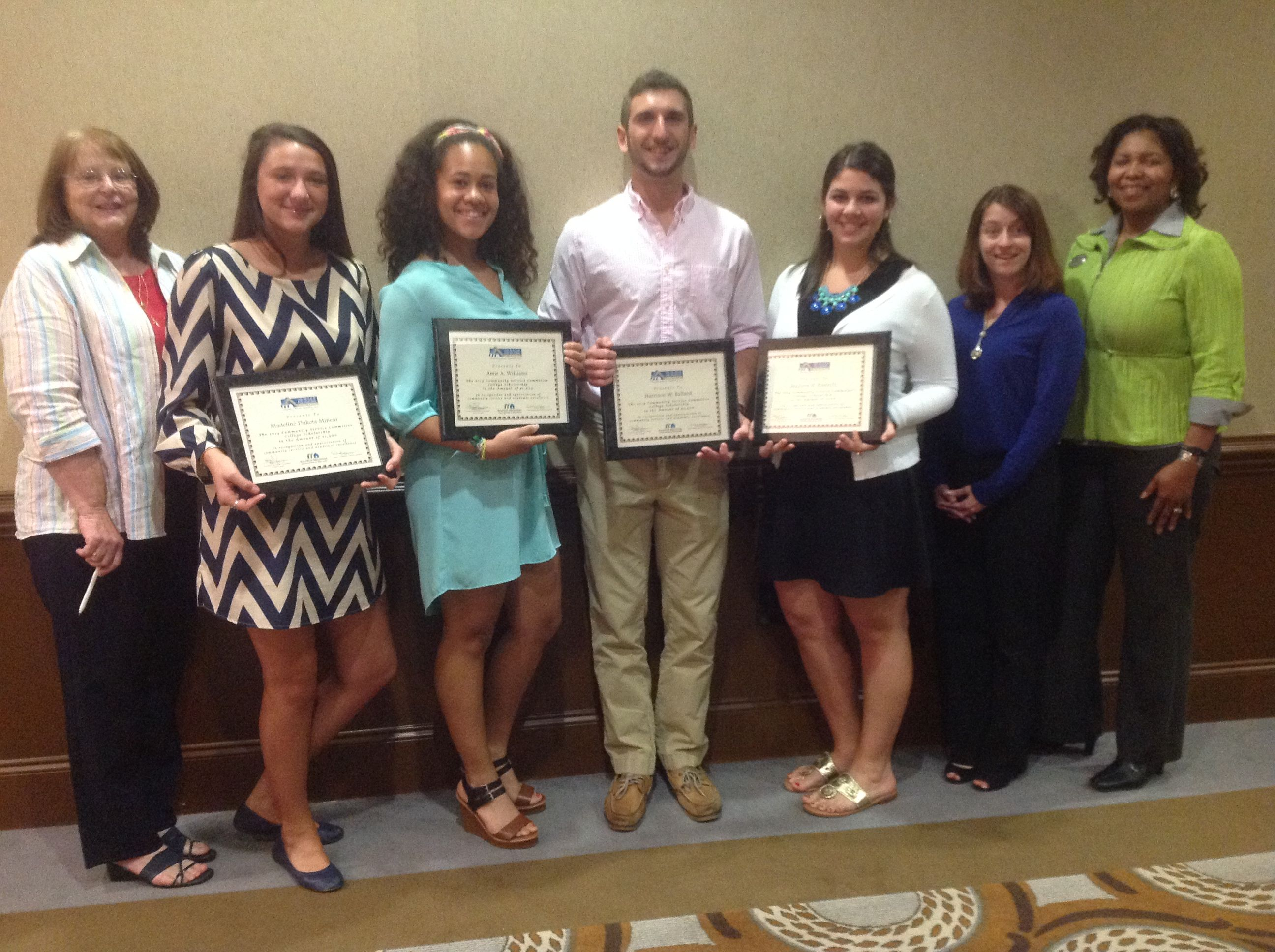 REALTOR Foundation of the Triangle Scholarship recipients