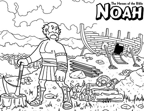 Noah The Bible Heroes Coloring Page Bible Coloring Pages Bible Heroes Bible Coloring