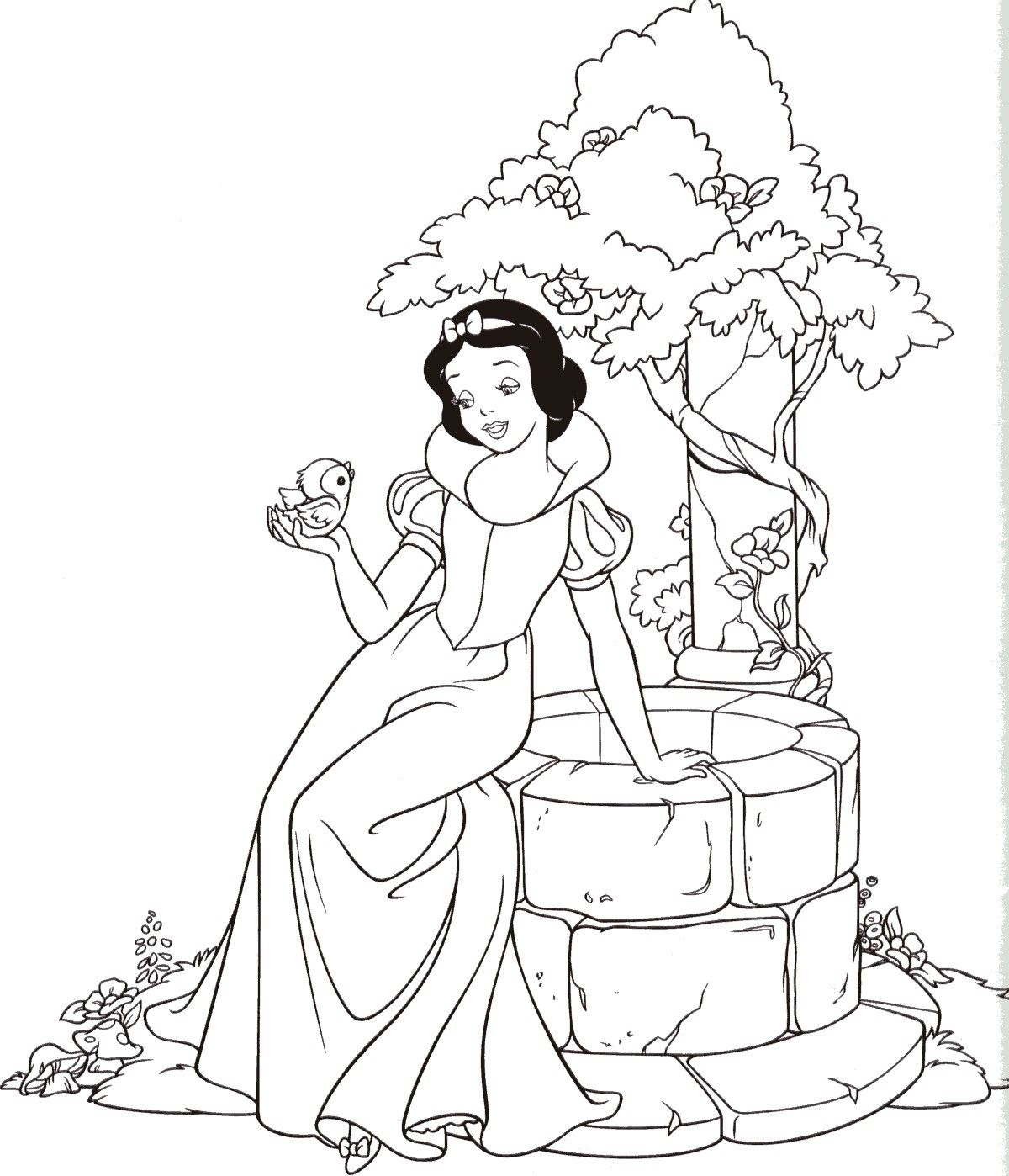 Snow White Coloring Pages Free For Kids Disney Princess Coloring Pages Snow White Coloring Pages Princess Coloring Pages