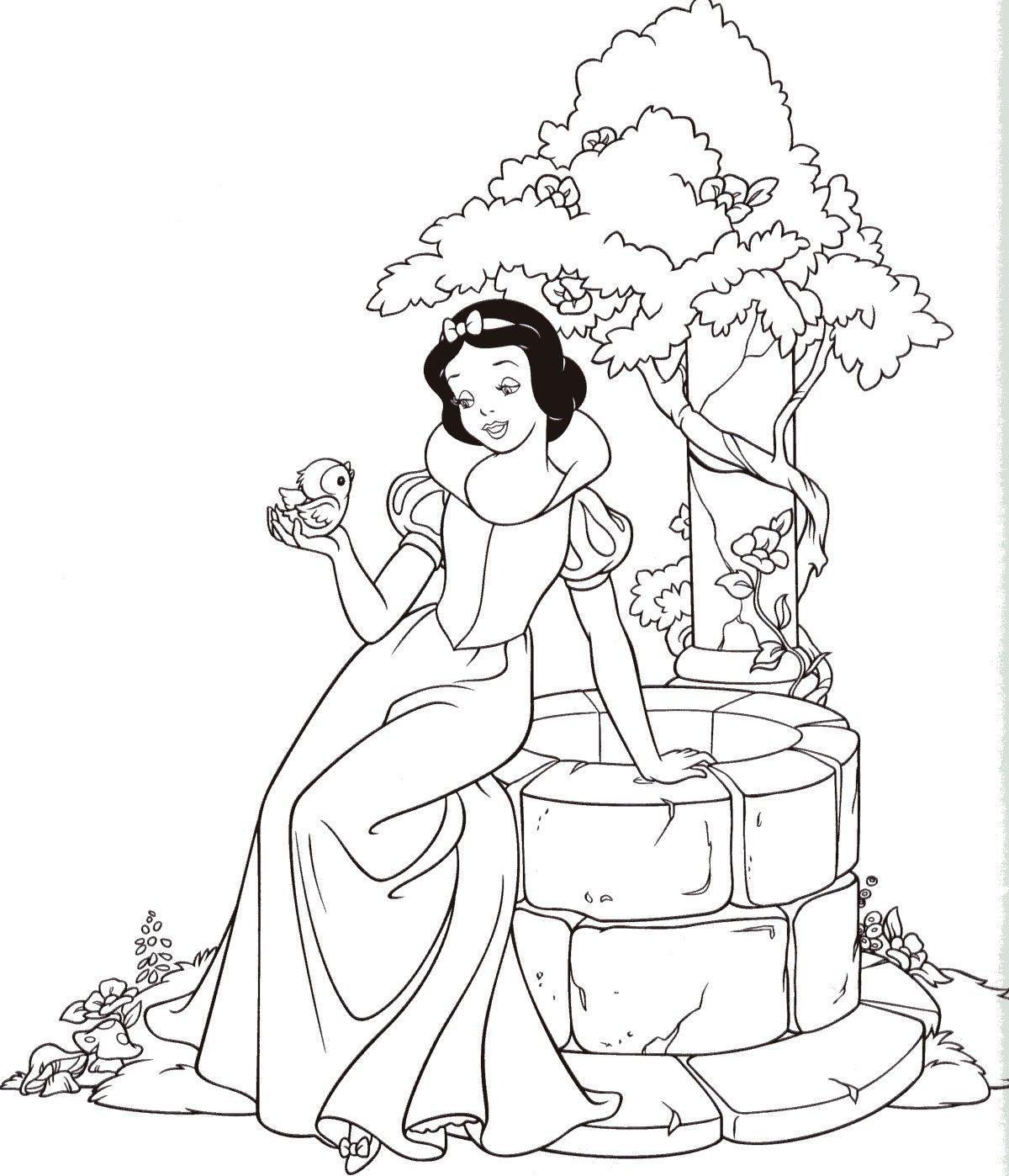 Free Printable Disney Princesses Coloring Pages