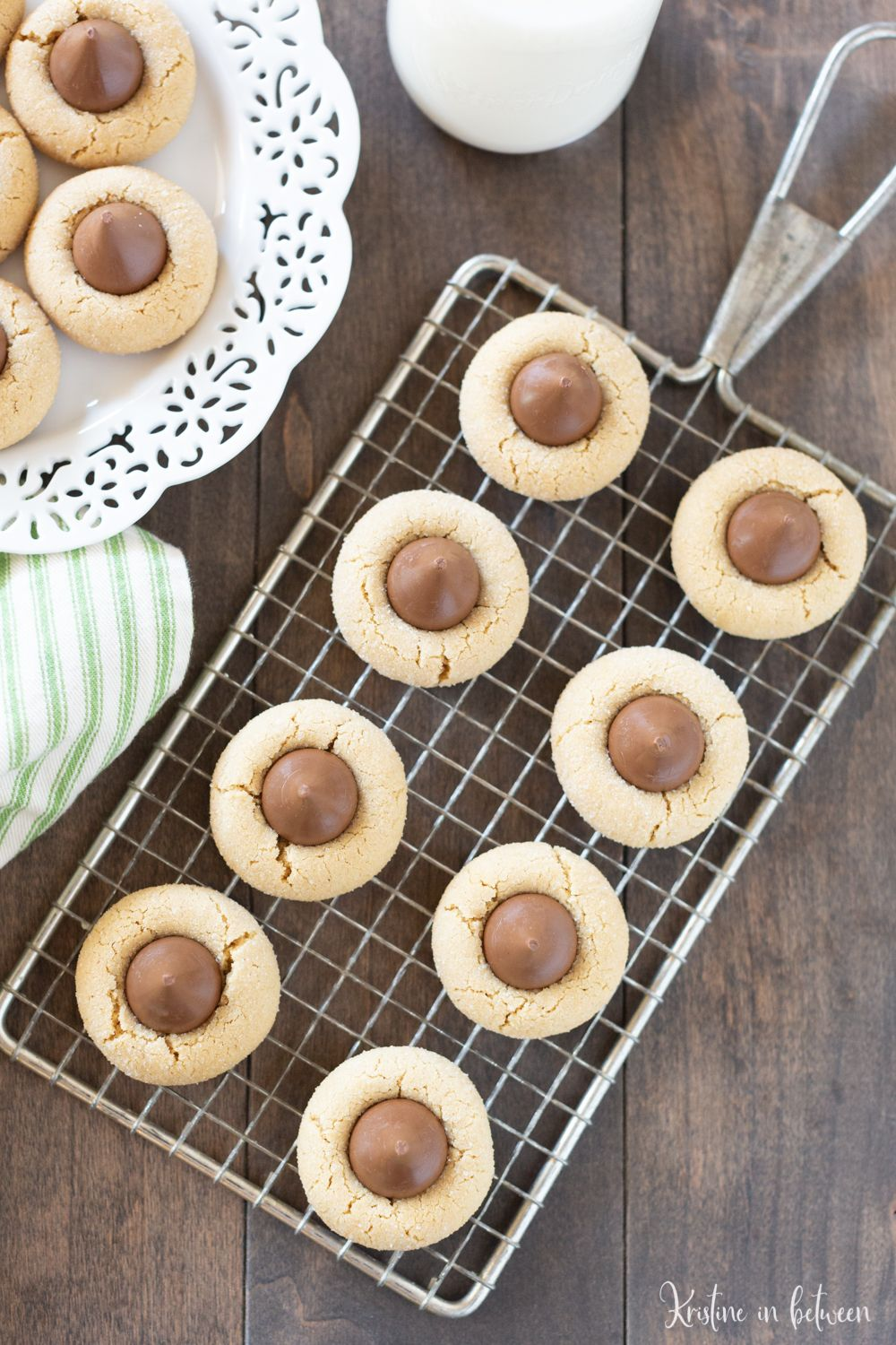 The very best recipe for traditional peanut butter kiss cookies It has been tested over the years and the cookies come out perfect every time