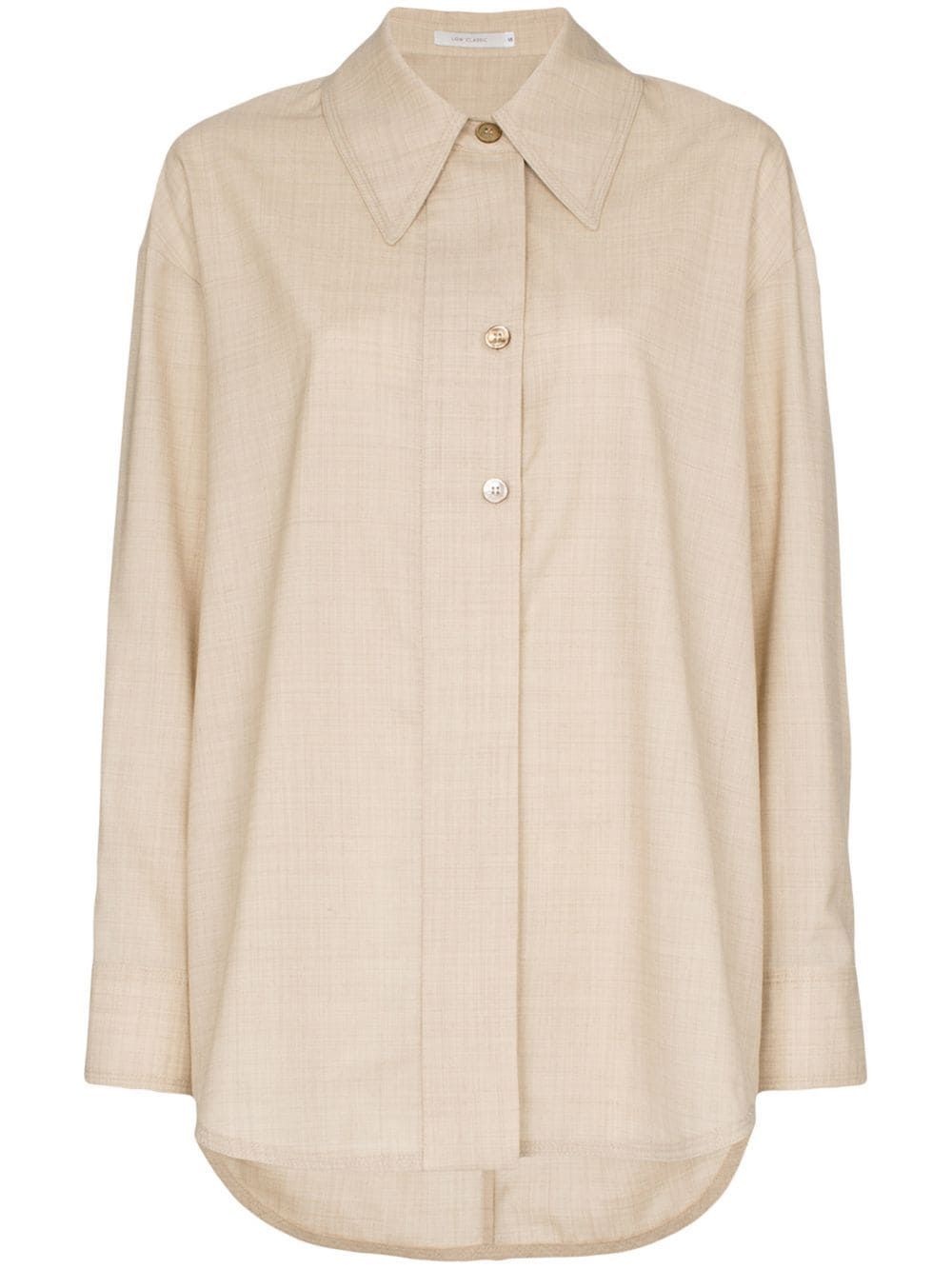 a55cfa12bf39 Low Classic oversized wool shirt - Neutrals | Products in 2019 ...