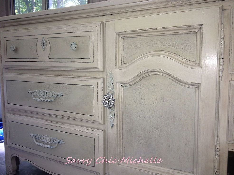 Transform An 80s Fake Wood Dresser With A Sophisticated Distressed Paint Job