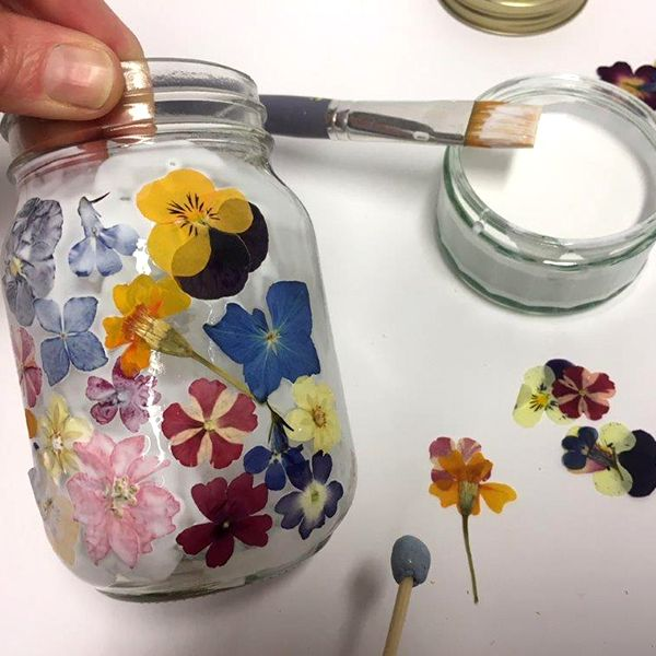 Photo of How to Make Pressed Flower Tealight Holders – Hobbycraft Blog