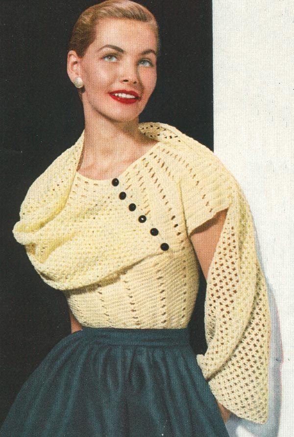 PDF 5201 Modelo de ganchillo de la blusa del mantón de la vendimia ...