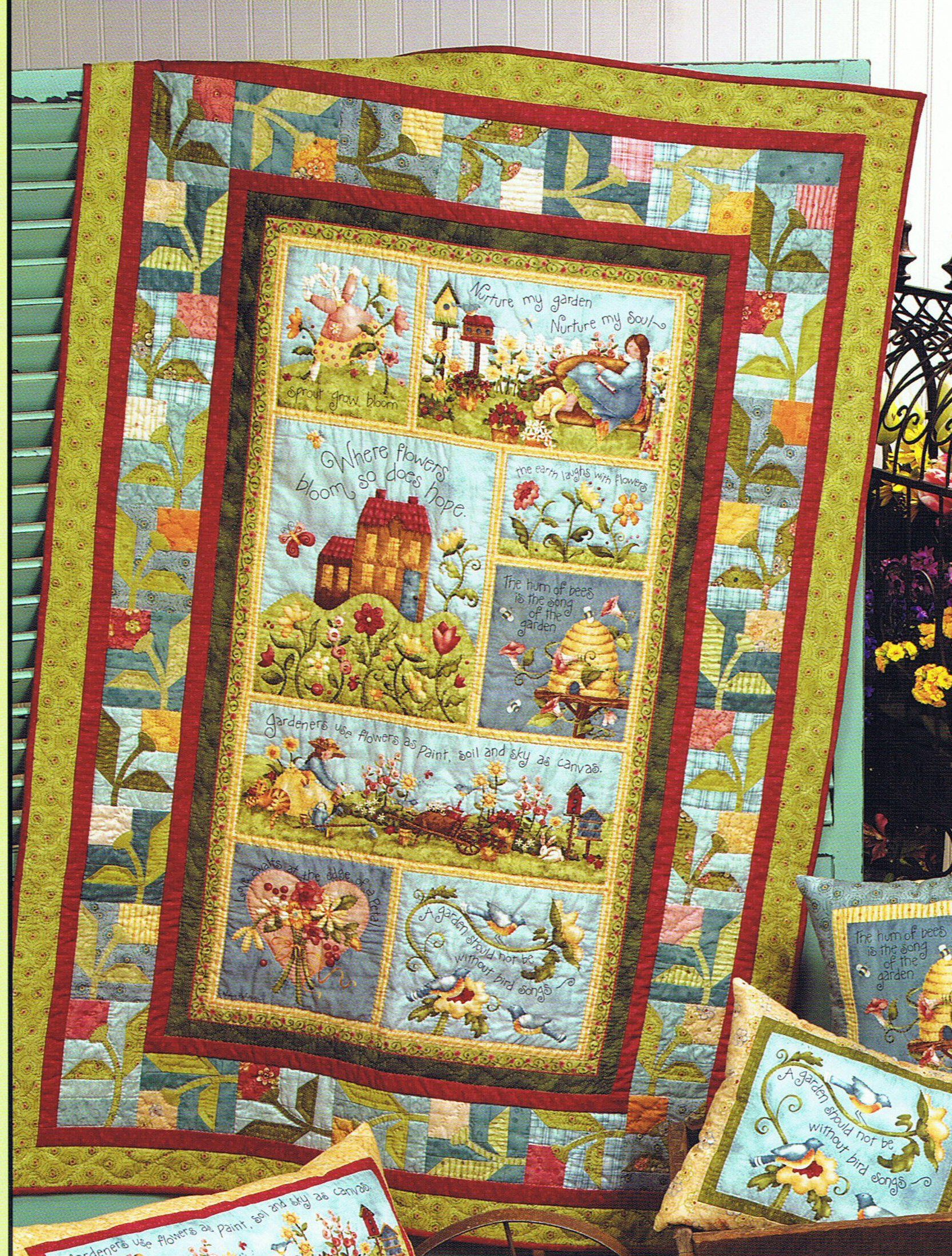 Garden Song Panel Quilt Kit Panel Quilts Quilted Wall