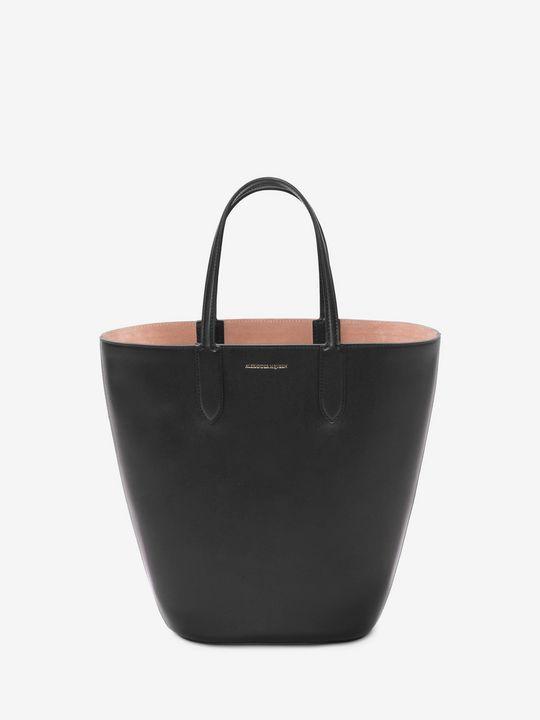 Alexander McQueen Basket Bag small leather tote ntkJzFBr