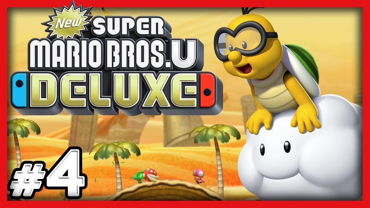 New Super Mario Bros U Deluxe 4 Steal His Cloud 4 Player