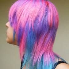 Image result for blue and pink hair