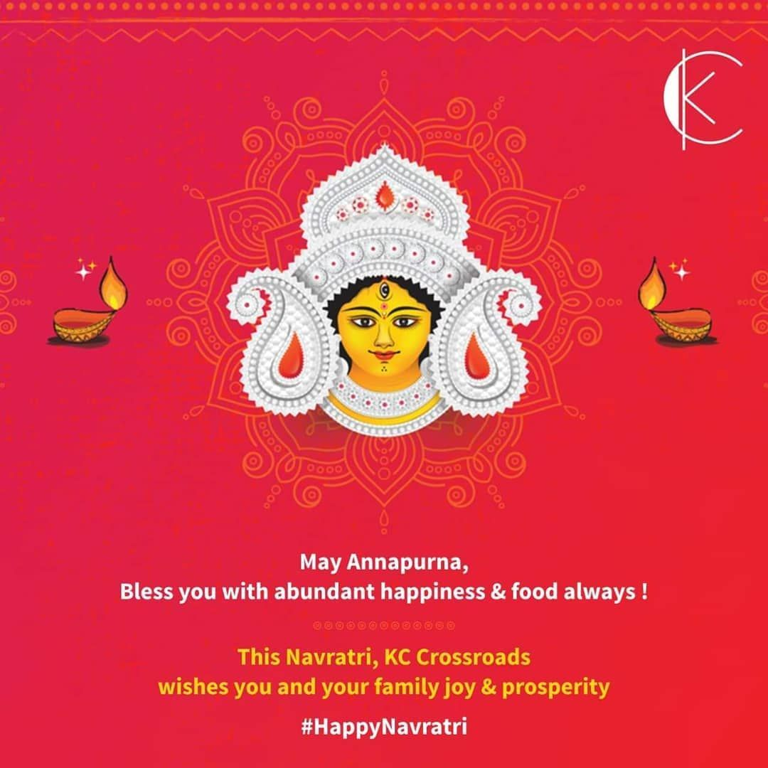 Joy in every morsel, Prosperity in every meal, May the Goddess bless you, With Happiness, gratitude & zeal! KC Crossroads wishes you a very Happy Navratri!  #HappyNavratri #Navratri #Conference #Weddings #Banquet #Halls #BestRoofTopBar #Tricity #Hotel #KCCrossroad #Panchkula #Chandigarh #Food #Foodgasm #Foodporn #love #party #music #cozy #Stay #Monsoon #Rooms #Restautrant #navratriwishes Joy in every morsel, Prosperity in every meal, May the Goddess bless you, With Happiness, gratitude & zeal! K #navratriwishes