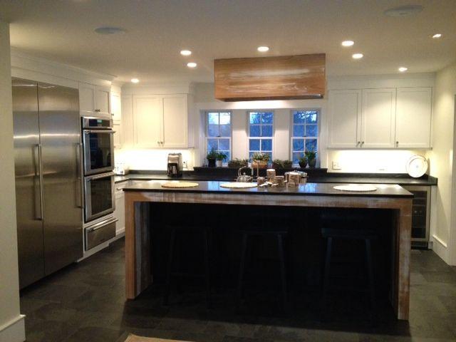 White Kitchen, Transitional Style, Raw White Washed Oak