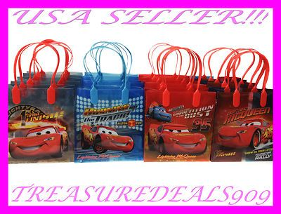 12 PC Disney Cars Goodie Gift Bags Party Favors Candy Pixar Treat Birthday Bag