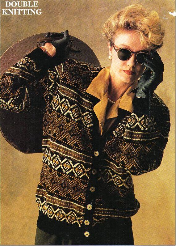 womens fair isle cardigan knitting pattern PDF ladies fair | Fair ...