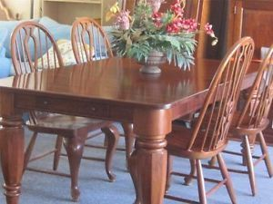 bob timberlake lexington cherry dining room table 4 windsor chairs