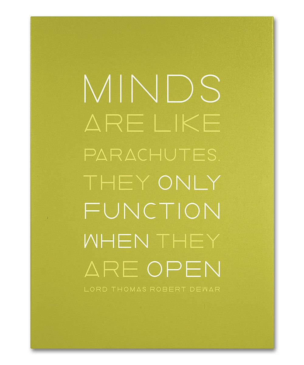 Green \'Minds\' Canvas Wall Art | Quotes - Inspirational ...