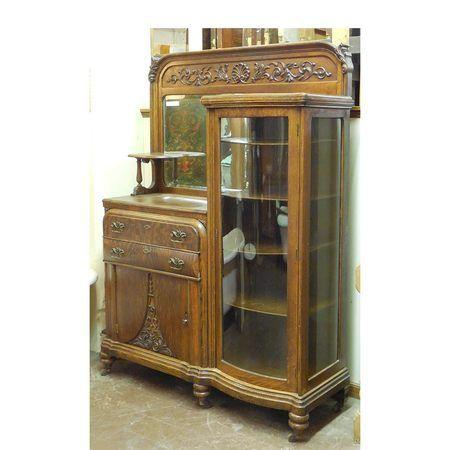 Antique #Victorian Oak Buffet/China Cabinet circa 1900 #https ...
